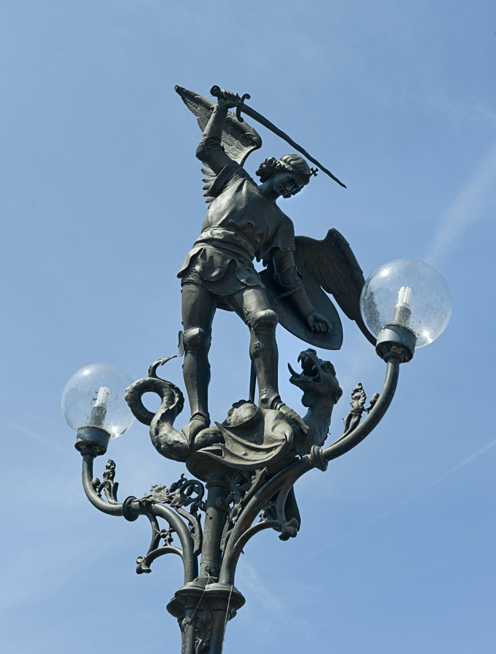 Statue of Saint Michael by Remi Rooms