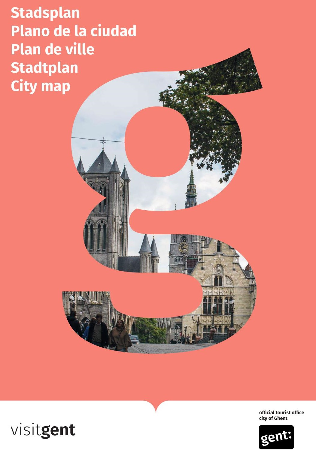 Tourist map of Ghent