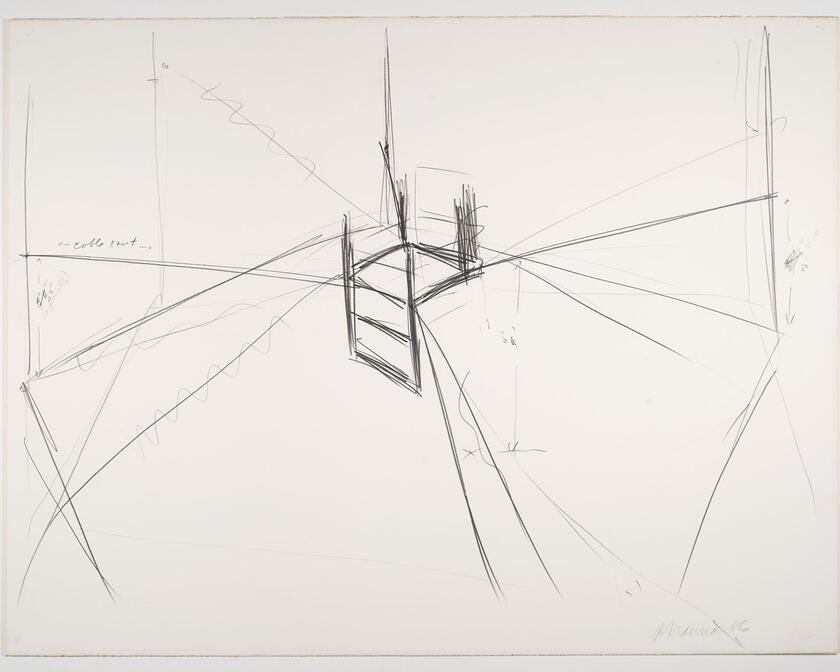 Bruce Nauman - Suspended chair