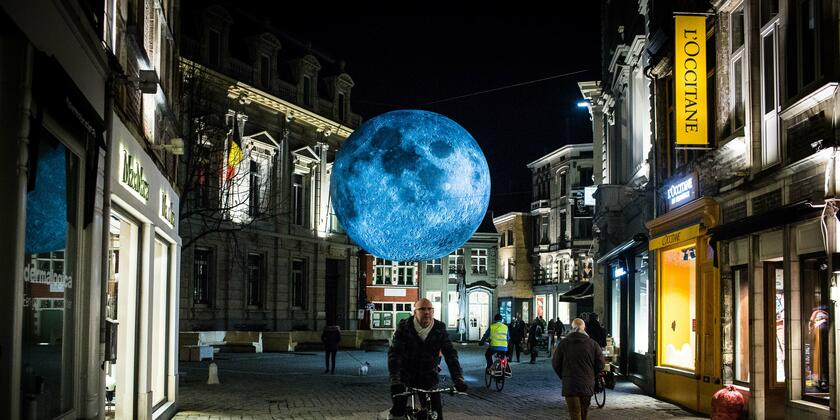 Blue Moon, art work at the Light Festival in 2018
