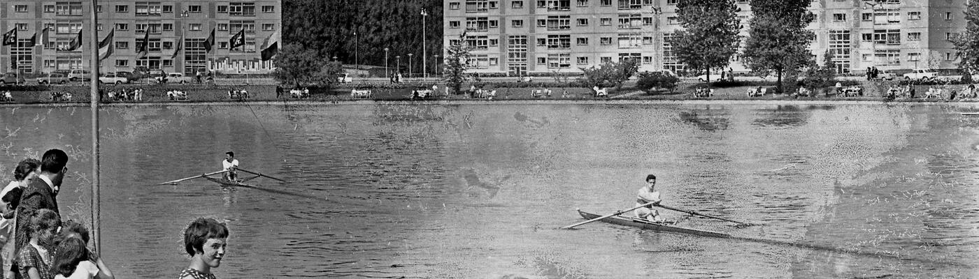 Rowing at the Watersportbaan, 1960s
