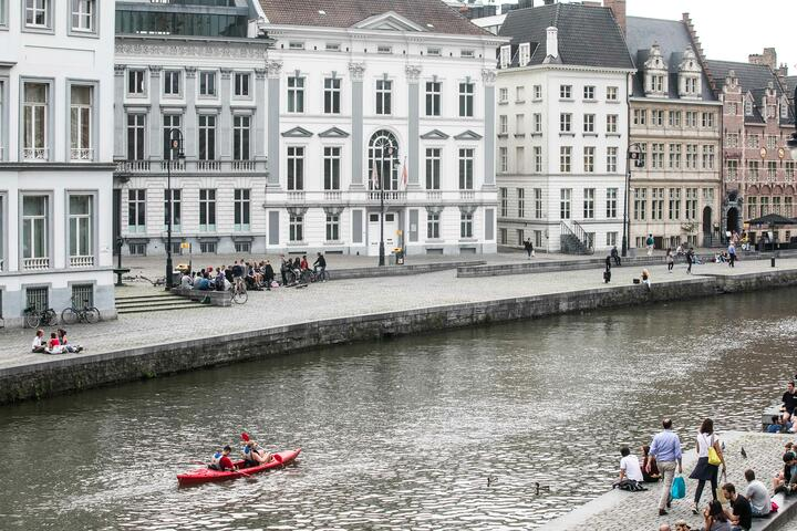 Canoe and kayak tours in the city centre