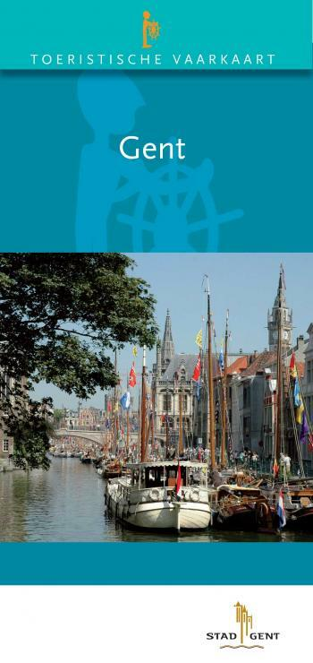 Tourist sailing map of Ghent