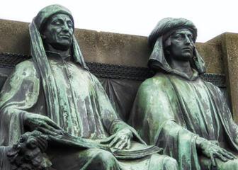 Standbeeld Hubert & Jan Van Eyck
