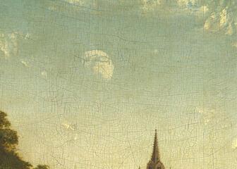 De maan op het Lam Gods