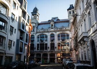 The art centre Vooruit is housed in an impressive 100-year-old monument