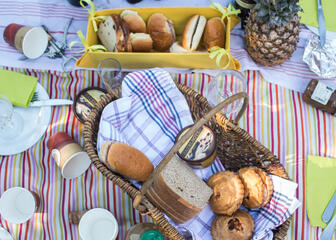 Local products for a picnic