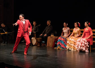 Flamenco dancers on a stage