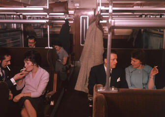 Smoking on public transport used to be common