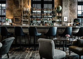 Cosy bar and lobby at 1898 The Post