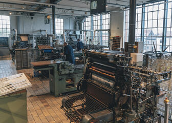 The printing department