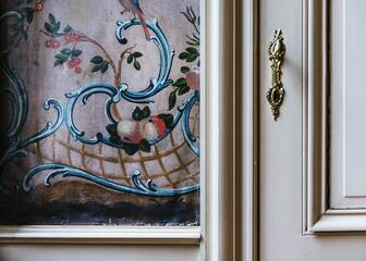 Detail of the interior at Huis Van der Haeghen