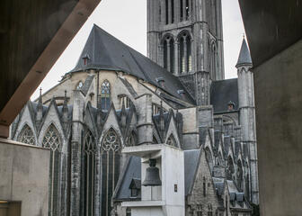 View on St Nicholas' Church in Ghent