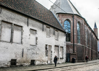 Contemporary art in an old setting in Ghent