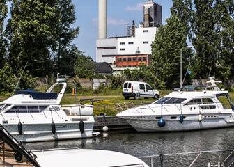 Moored Boats at Yachting Merelbeke