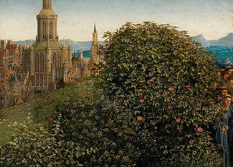 The apothecary's rose was one of the two most often painted roses in the Renaissance art of the 15th and 16th centuries