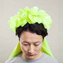 Woman with green headdress