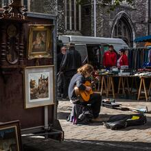 Flea market at Bij Sint-Jacobs