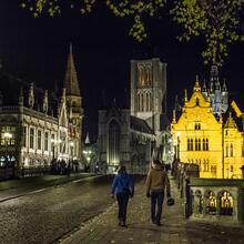 St Michael's Bridge, romantic Ghent