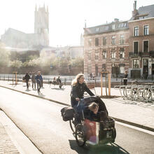 cargo bike in Ghent